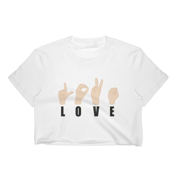 "Handwritings ""Love"" - Crop-top Femme"