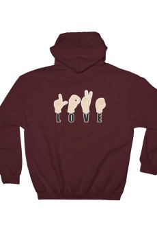 "Handwritings ""Love"" - Sweat à capuche Homme et Femme (Unisexe)"