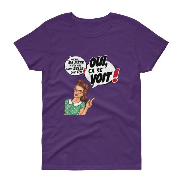 """Punchliness """"Ça se voit !"""" - T-shirt Femme manches courtes"""