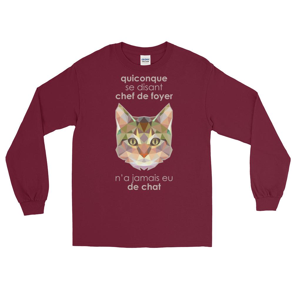 """Zoo """"Chat"""" – T-shirt manches longues Homme et Femme (Unisexe)"""