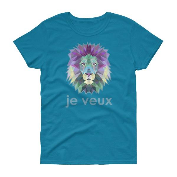 """Zoo """"Lion"""" - T-shirt femme manches courtes"""