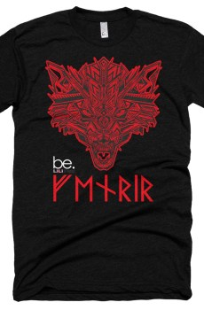 """Black Edition : Fenrir """"Tatoo"""" - T-shirt manches courtes Homme et Femme (Unisexe)"""