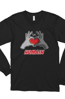 "Black Edition : Handwritings ""Humain"" - T-shirt manches longues Homme et Femme (Unisexe)"