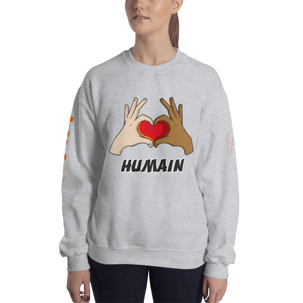 "Handwritings ""Humain"" – Sweat-shirt Unisexe"