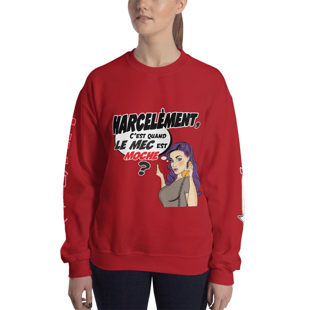 "Punchliness ""Harcèlement"" – Sweat-shirt Femme"