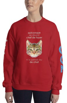 "Zoo ""Chat"" - Sweat-shirt Unisexe"