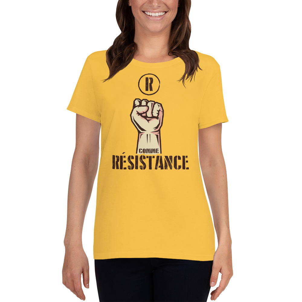 """Handwritings """"R comme Résistance"""" – T-shirt manches courtes Femme"""