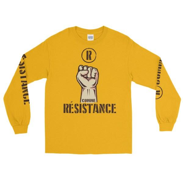"""Handwritings """"R comme Résistance"""" - T-shirt manches longues Unisexe"""