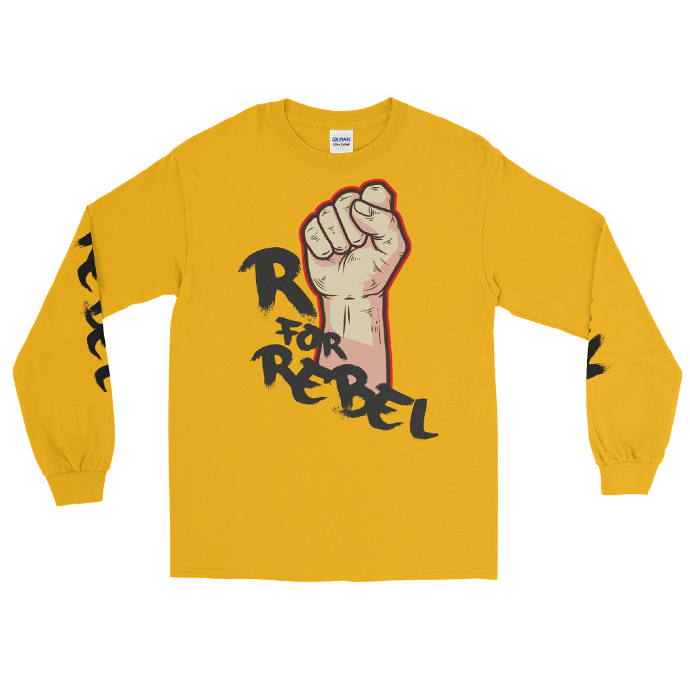 """Handwritings """"R for Rebel"""" – T-shirt manches longues Unisexe"""