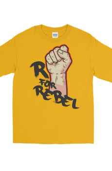 "Handwritings ""R for Rebel"" - T-shirt manches longues Unisexe"