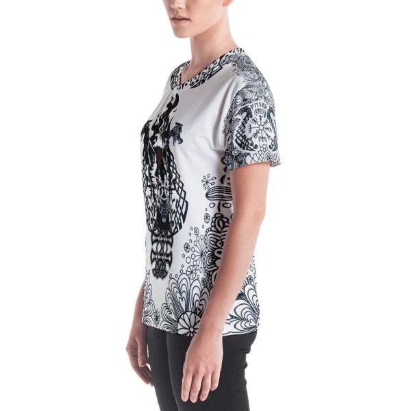 "Fenrir ""Liberté"" - T-shirt col V Femme"