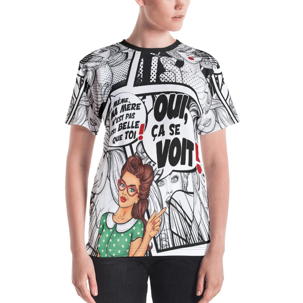 "Punchliness ""Ça se voit"" – T-shirt Crew-neck Femme"