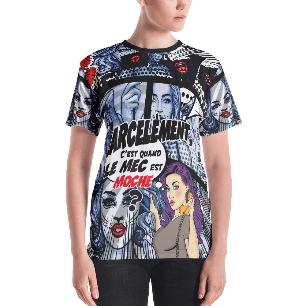 "Punchliness ""Harcelement"" – T-shirt Crew-neck Femme"