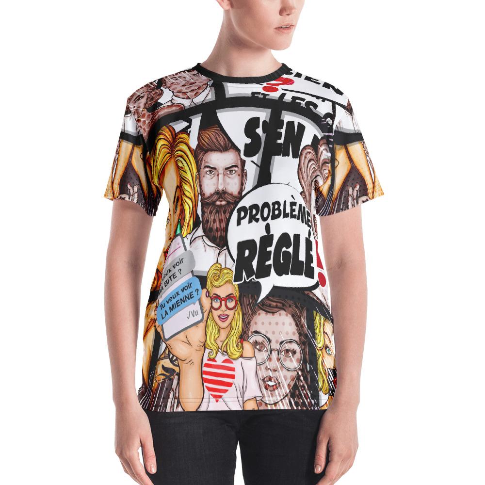 """Punchliness """"Problème réglé"""" – T-shirt crew-neck Femme"""