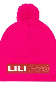 LILI (Paris) Blanc / Rouge - Bonnet à pompon Unisexe