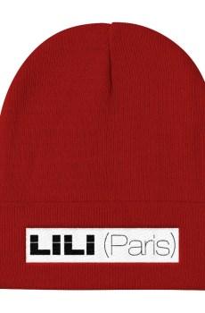 LILI (Paris) Noir/ Blanc : Bonnet brodé Unisexe