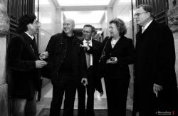 All'uscita della Camera dei Deputati