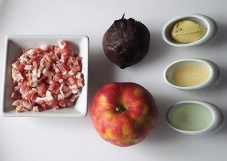 Ingredient Verrines Betterave Pomme Lardon