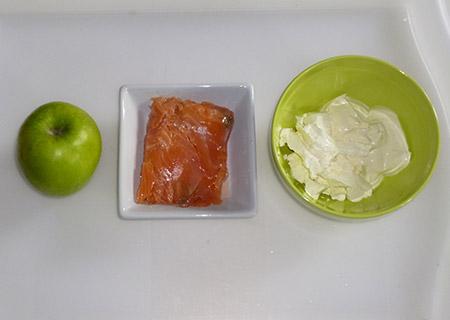 ingredient Verrine de saumon fumé pomme et aneth