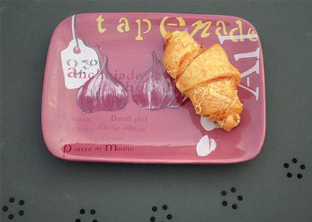Minis croissants jambon fromage