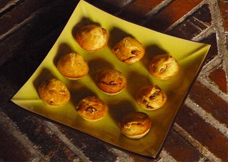 Minis cakes aux tomates séchées