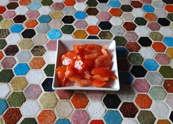tomate découpé