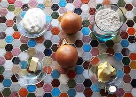 Ingrédients Tarte aux oignons