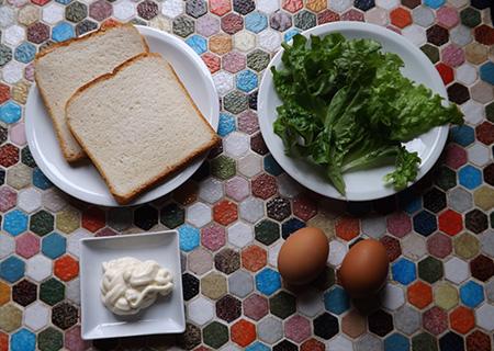Sandwich aux œufs ingrédients