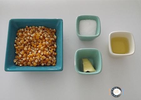 Pop-corn au Caramel Ingrédients