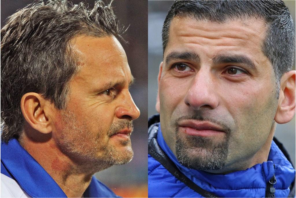Dirk Schuster und Dimitrios Grammozis, SV Darmstadt 98
