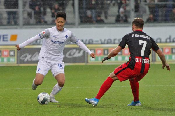 Seung-ho Paik, Mittelfeldregisseur der Lilien, SV Wehen Wiesbaden - SV Darmstadt 98