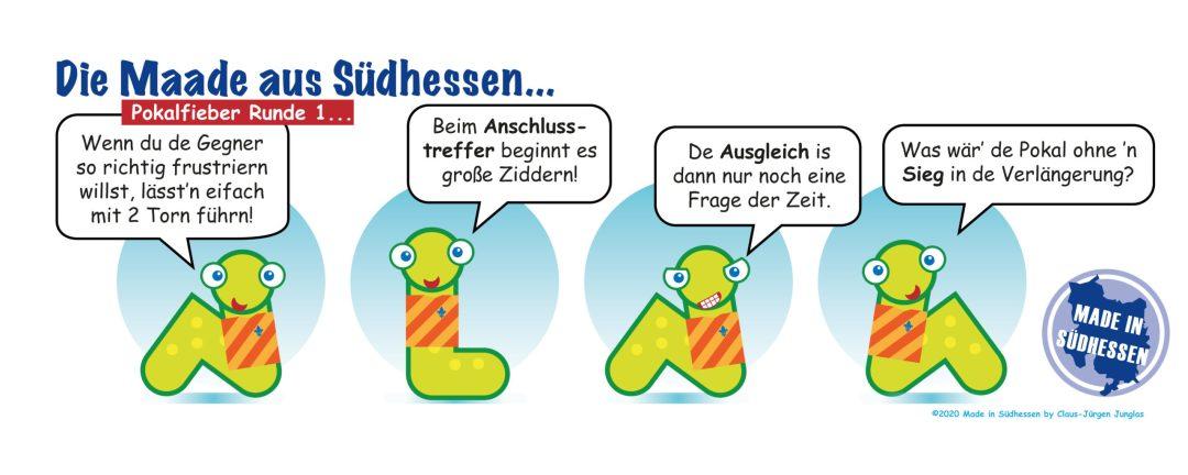 Cartoon: Die Maade aus Südhessen