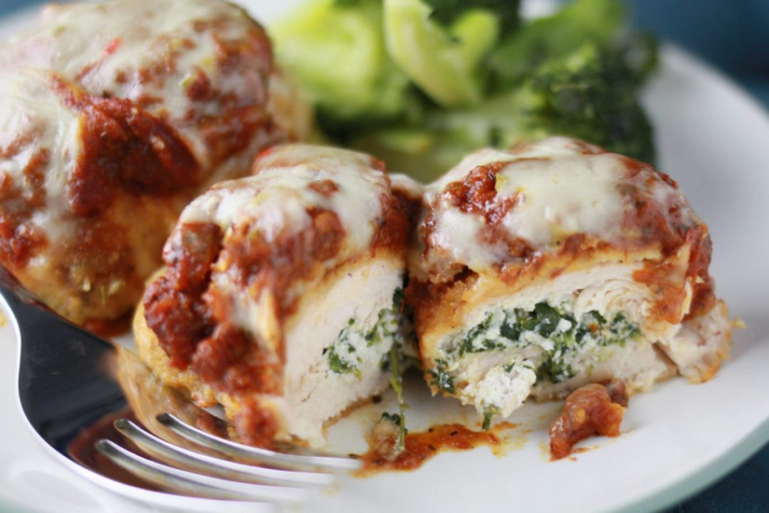 Spinach Stuffed Chicken Parm