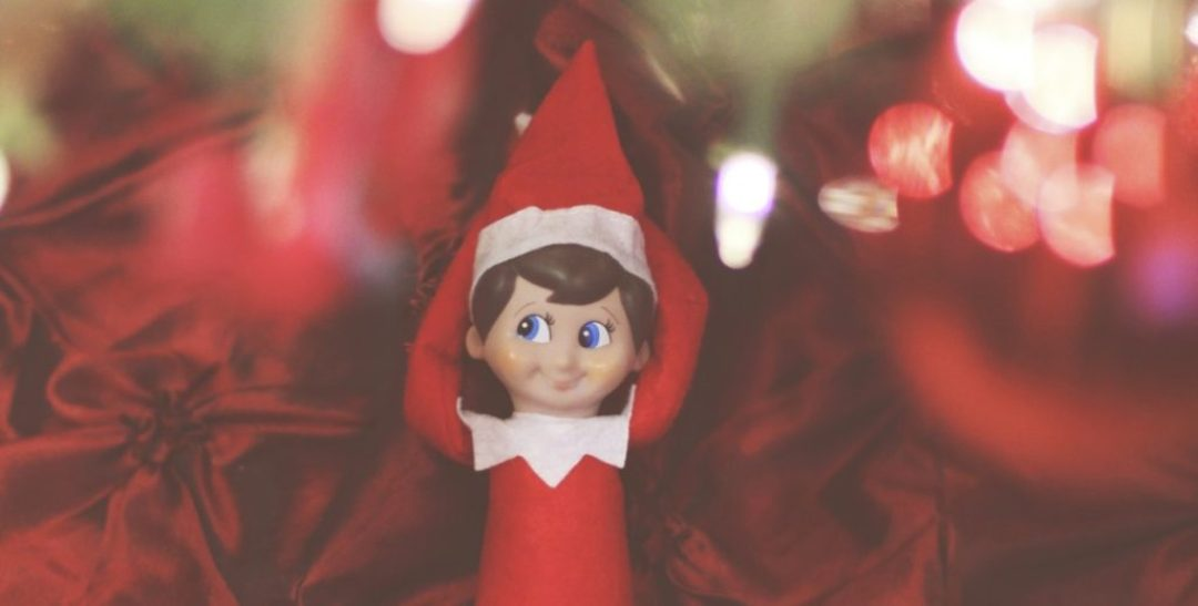 elf on the shelf: hanging under the tree