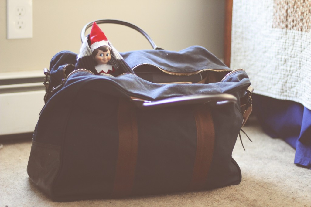 Elf on the Shelf: In our Luggage