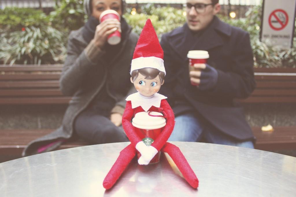Elf on the Shelf: Starbucks