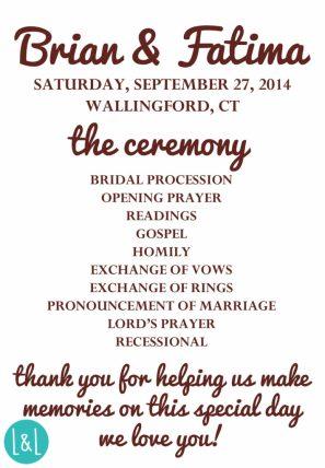 Ceremony Program (Front)