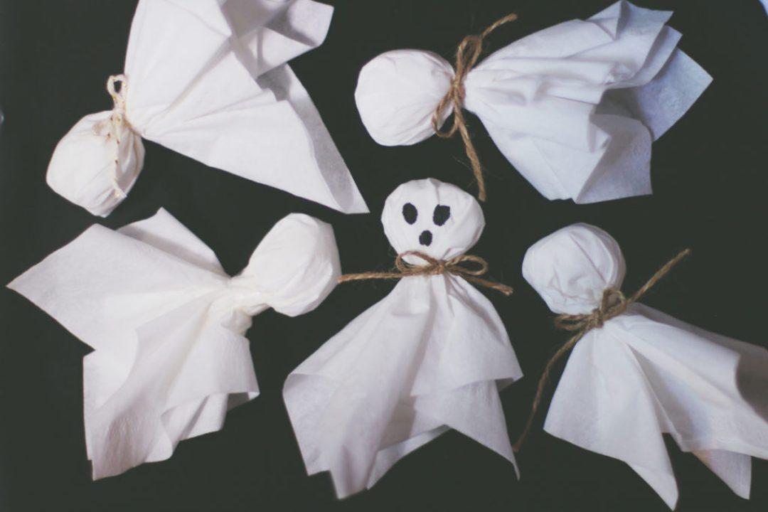 DIY Tissue Ghosts