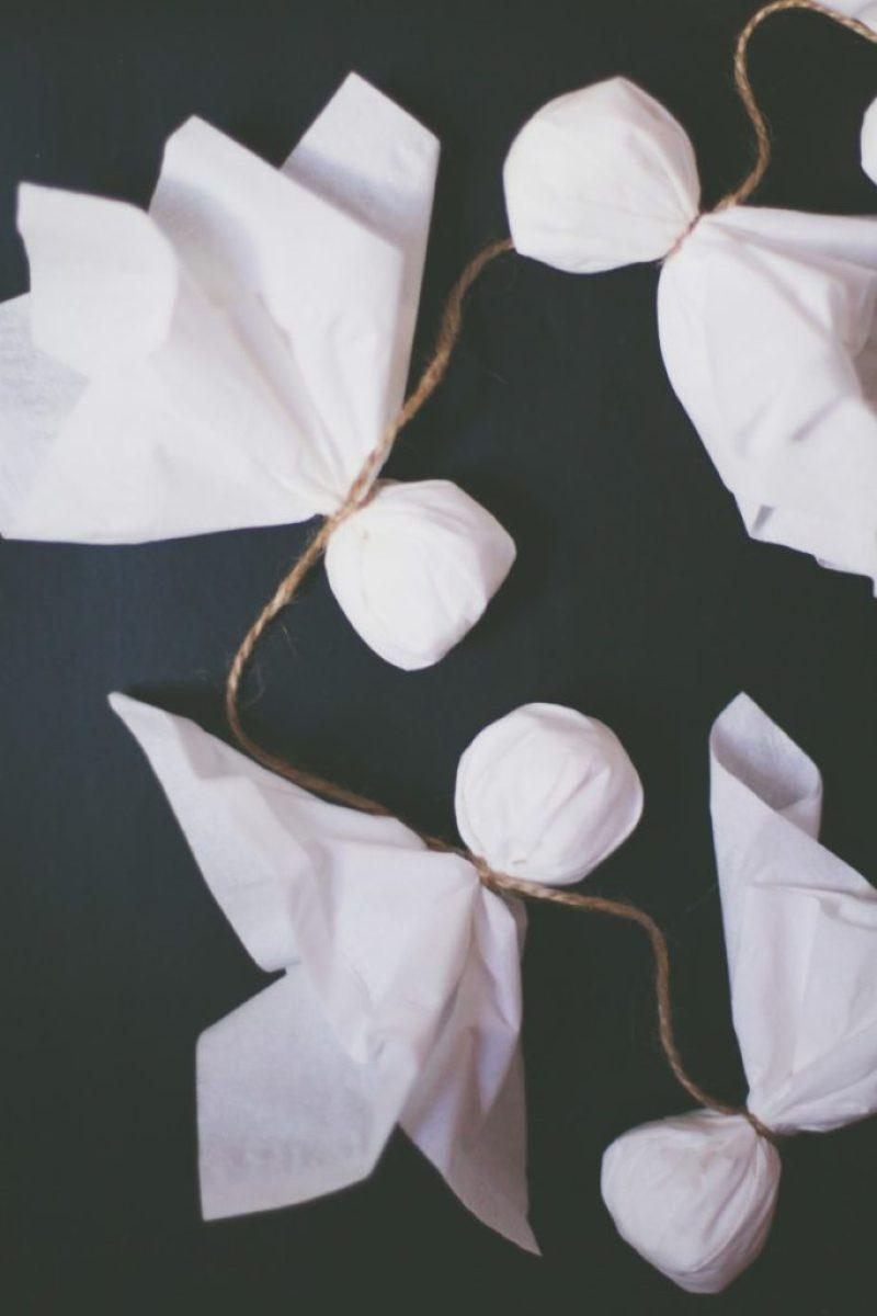 Tissue Ghost Garland