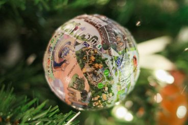 DIY Map Ornament