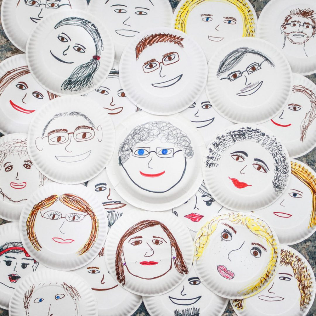 Paper Plate Faces