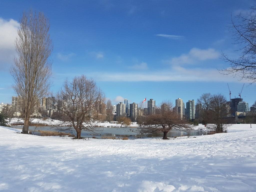 Vanier Park sous la neige