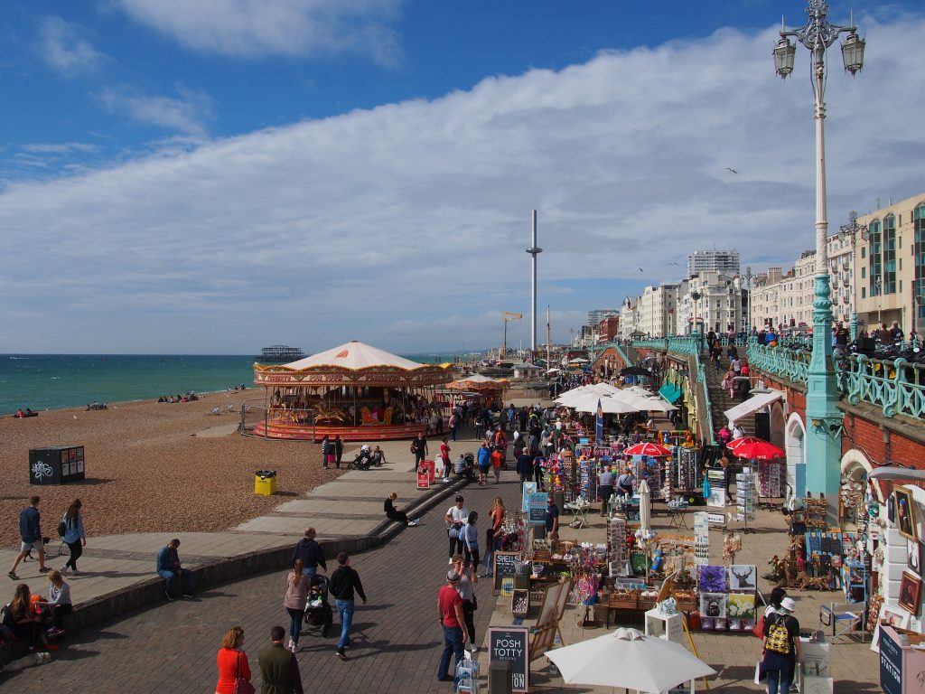 Le bord de mer de Brighton