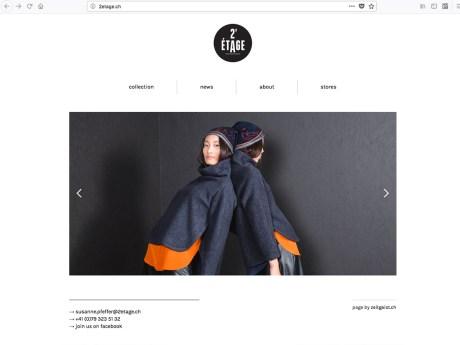 Website für 2ème Etage