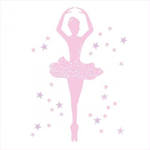 Stickers Danseuse Rose Lili Pouce Stickers Appliques