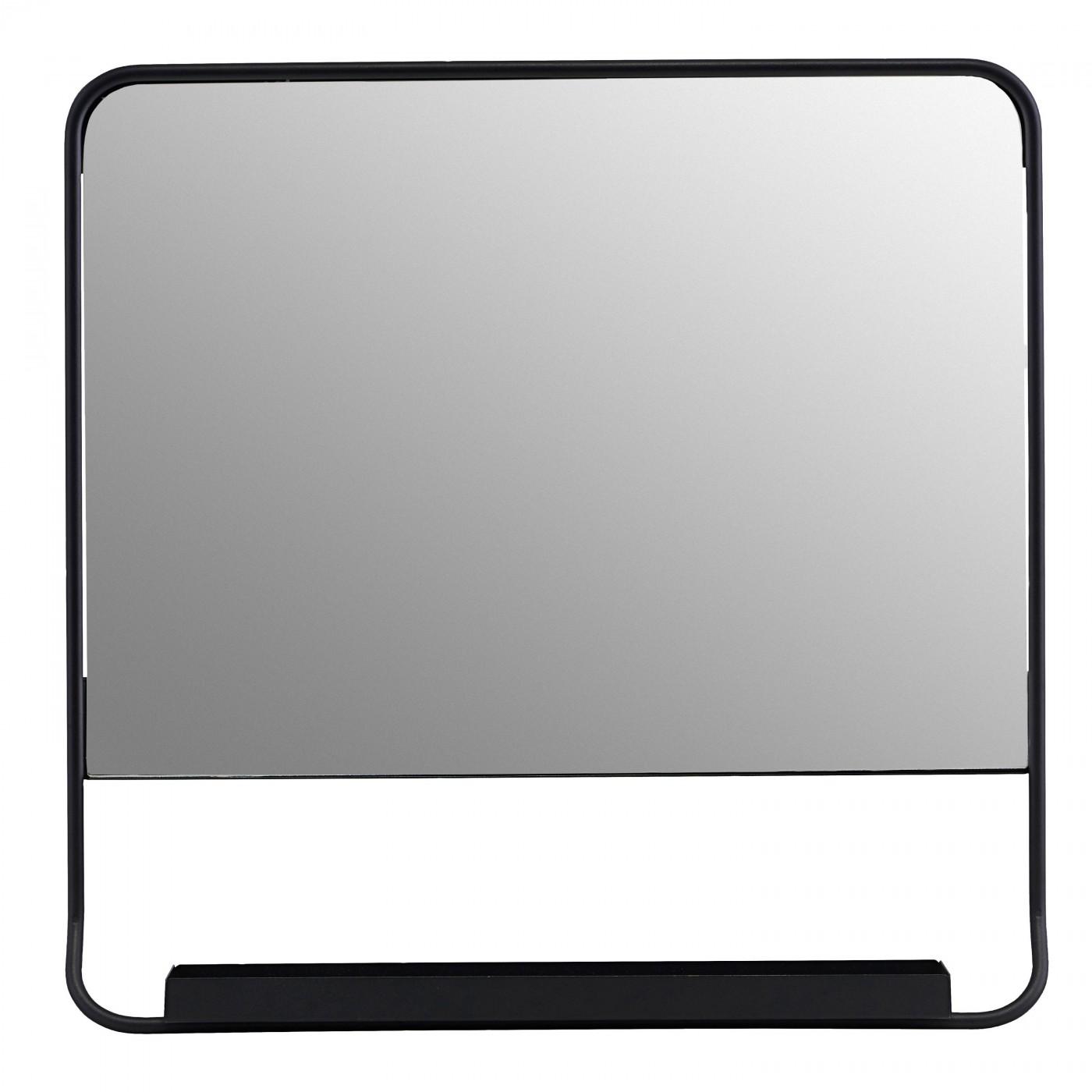 miroir mural chic avec tablette et bord noir house doctor