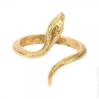 Bague serpent or   Lili Shopping Bague serpent or