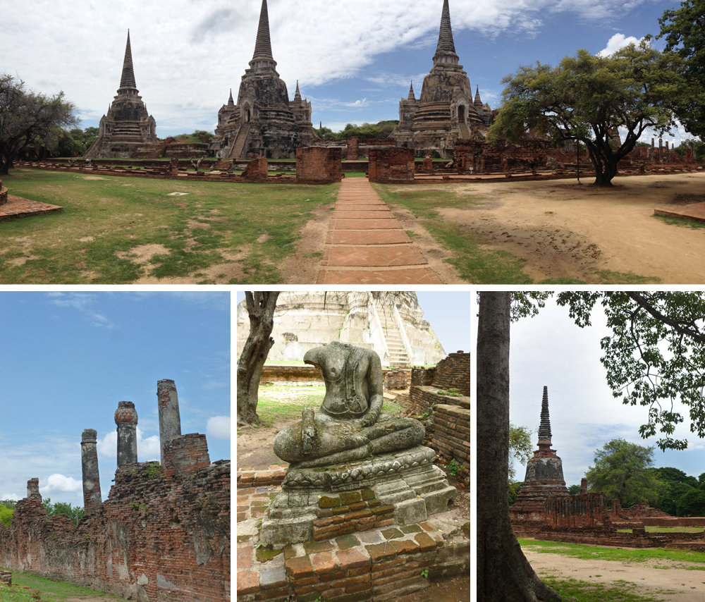 Temple hopping in Ayutthaya, Thailand
