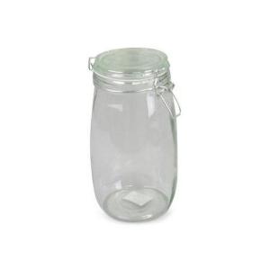 Burk med lock glas