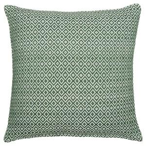 Kuddfodral Melker grön/vit 45x45cm